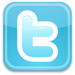 Twitter blue and white t icon