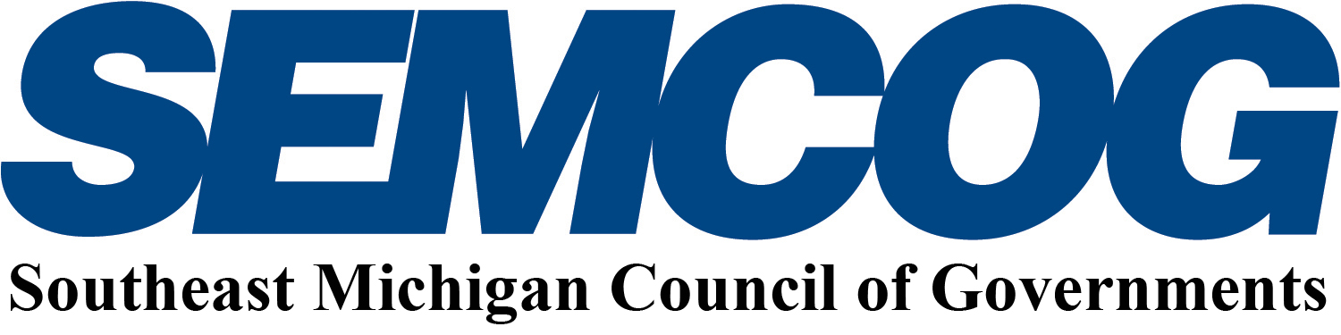 SEMCOG Southeast Michigan Council of Governments Logo on 2 lines